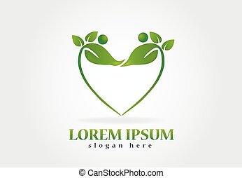 logo, hälsa, det leafs, natur