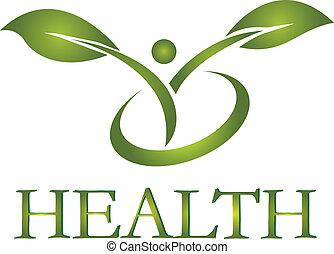 logo, hälsosam, vektor, liv