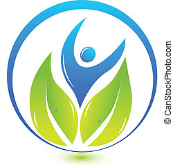 logo, natur, hälsa, folk