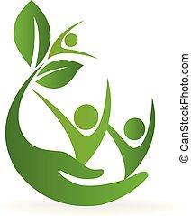 logo, natur, hälsa varsamhet
