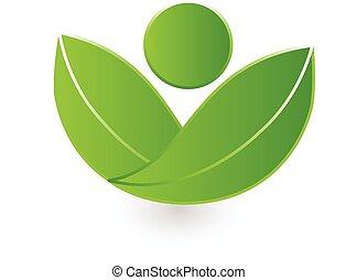 logo, natur, vektor, hälsa