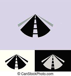logo, rak, väg