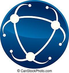 logo, vektor, design, mall, atom
