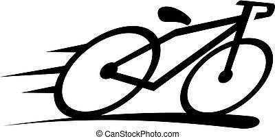 logo, vektor, design, mall, cykel