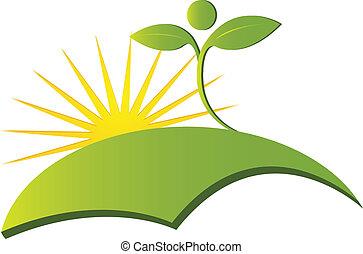 logo, vektor, hälsa, natur