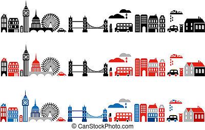 london, illustration, stad, vektor