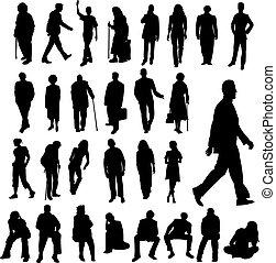 lott, silhouettes, folk
