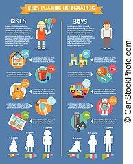 lurar, leka, infographics