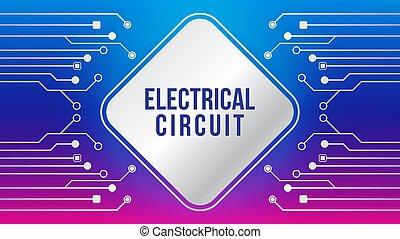 lutning, färg, blå, metallisk, fyrkant, färgrik, vektor, mall, theme., elektronisk, purpur, illustration., magenta, form, rosa, rundat, strömkrets, design, träd, violett, abstrakt, bakgrund., elektrisk, element