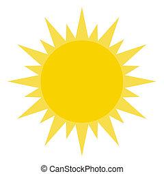 lysande, sol, gul