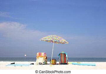 lysande, strand