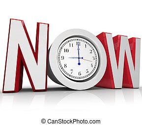 mätning, nödläge, klocka, tid, nu, eller, urgency