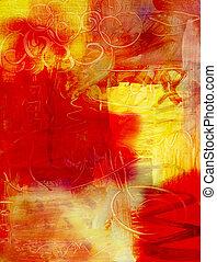 måla, abstrakt, akryl, bakgrund