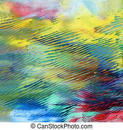 målad, abstrakt, akryl, bakgrund