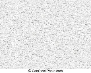målad, texture., vit, knäckt, seamless