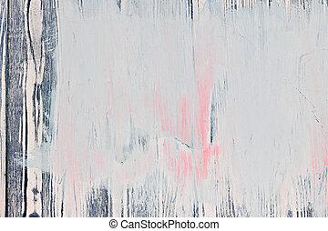 målad, ved, gammal, bakgrund