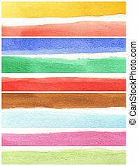 målar, struktur, papper, bakgrund, -, ivrig, vattenfärg, grov