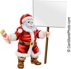 målarpensel, jultomten, holdingen, underteckna