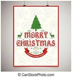 mönster, bakgrund, julkort
