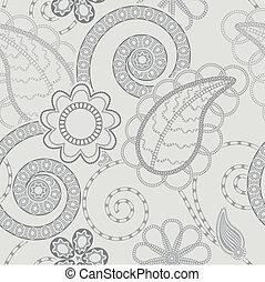 mönster, bakgrund, seamless, blommig
