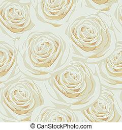 mönster, beige, seamless, ro