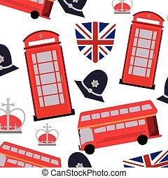 mönster, england, bakgrund, ikon