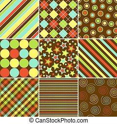 mönster, färgrik, bakgrund
