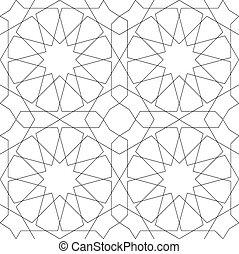 mönster, geometrisk, vit, seamless