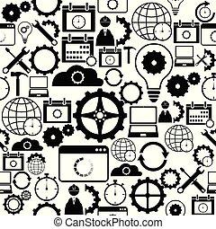 mönster, icon., seamless, bakgrund, inställningar