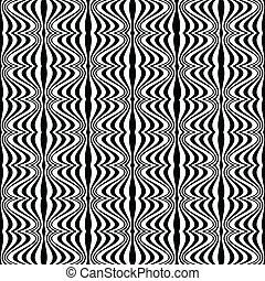 mönster, -, illusion, optisk, geometrisk, teckning