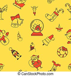 mönster, jul, bakgrund, seamless