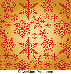 mönster, jul, bakgrund, snöflingor