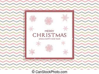 mönster, jul, snöflingor, bakgrund, retro