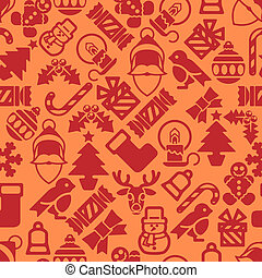 mönster, nymodig, seamless, bakgrund, jul