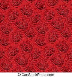 mönster, seamless, röda strilmunstycke
