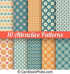mönster, vektor, attraktiv, (tiling), seamless