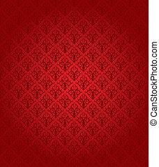mönster, (wallpaper), seamless, röd