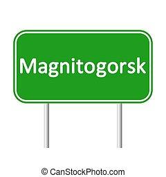 magnitogorsk, skylt., väg