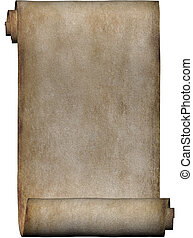 manuskript, rulle, pergament