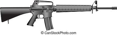 maskin, m16, gevär, a2.