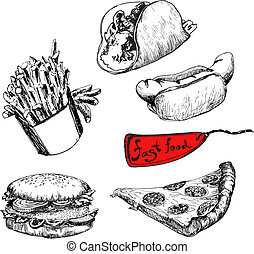 mat., illustrationer, fasta, sätta