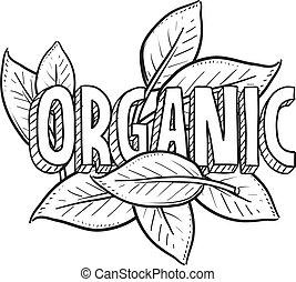 mat, skiss, organisk