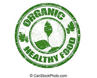 mat stämpla, organisk, hälsosam