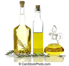 matlagning, flaskor, olja