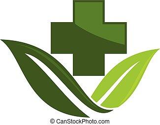 medial, vektor, design, mall, herbal, logo
