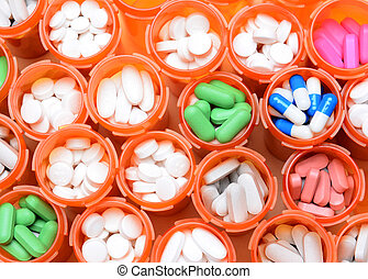 medicin, recept buteljerar