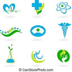 medicinsk, kollektion, ikonen