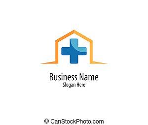 medicinsk, logo, mall