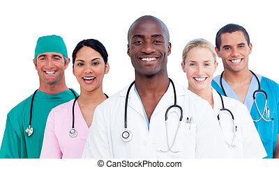 medicinsk, positiv, lag porträtt