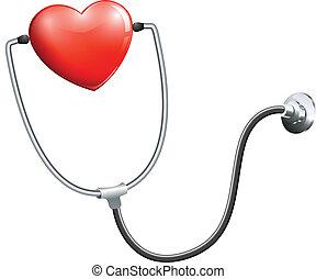 medicinsk, stetoskop